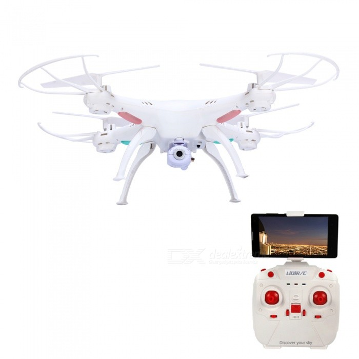 LIDIRC L15 Wi-Fi FPV 4CH 6-Axis RC Quadcopter w/ 0.3MP Camera - White