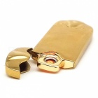 High Quality Thin Shaking USB Charging Lighter - Golden