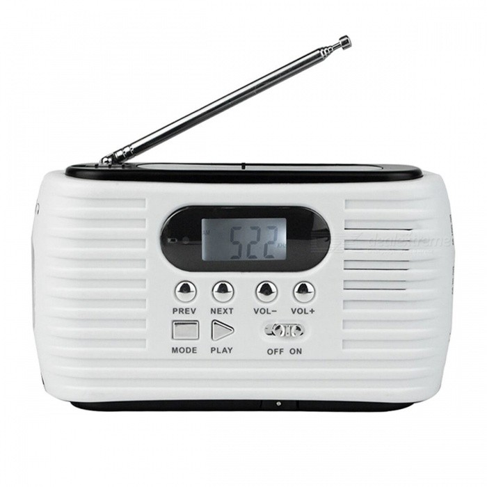 Dynamo Solar FM / AM Emergency Radio - White