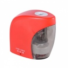 Battery-Operated / USB Rechargeable Pencil Sharpener - Red