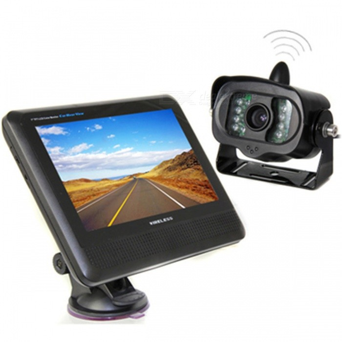 "KELIMA 7 ""Wireless Car Display Monitor avec caméra infrarouge de vision nocturne"