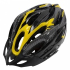 21 Holes Cycling Bicycle Bike Safety Helmet - Black + Yellow