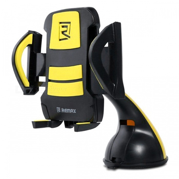 Remax RM-04 Car Air Vent Mobile Phone Holder - Black + Yellow