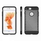 Protective Dual Colors PC Back Case for IPHONE 7 PLUS - Grey + Black
