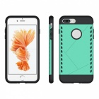 Protective Dual Color PC Back Case for IPHONE 7 PLUS - Green + Black