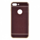 SZKINSTON High Plating Imitation Leather Back Case for IPHONE 7 PLUS