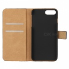 Protective Full Body Flip-Open Leather Case for IPHONE 7 PLUS - Black