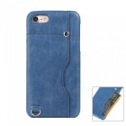 Protective Leather Back Case w/ Card Slot for IPHONE 7 4.7 Inch - Blue