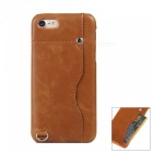 "Protective Leather Back Case w/ Card Slot for IPHONE 7 4.7"" - Brown"