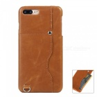 "Protective Leather Back Case w/ Card Slot for IPHONE PLUS 5.5"" - Brown"