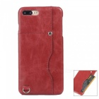 "Protective Leather Back Case w/ Card Slot for IPHONE 7 PLUS 5.5"" - Red"