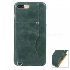 Protective Leather Back Case w/ Card Slot for IPHONE 7 PLUS - Green