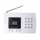 GSM PSTN Dual Network LCD Clock Display Alarm System - White, EU Plug