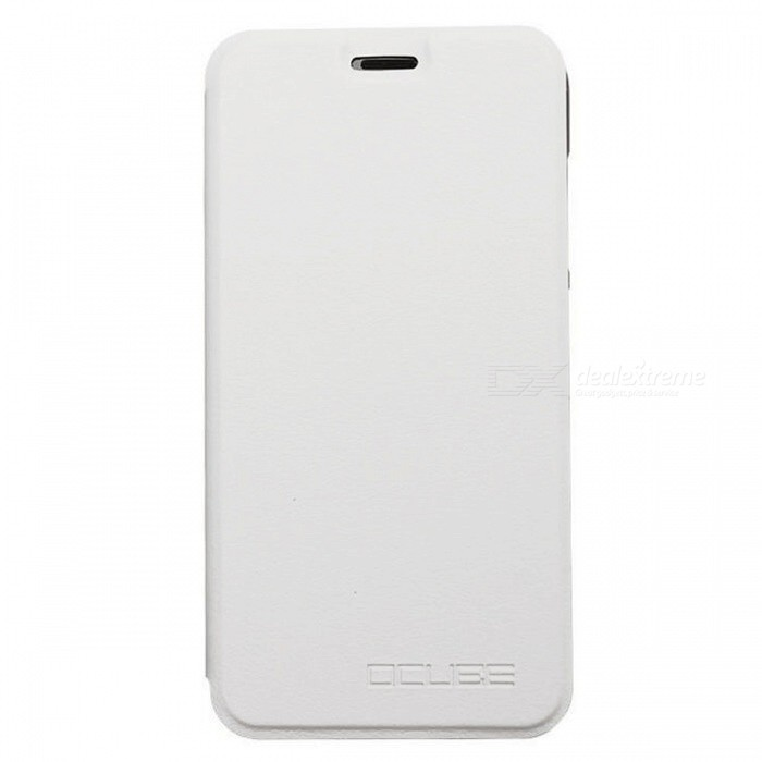 OCUBE PU Leather Flip-open Case for UMI Diamond Mobile Phone - White