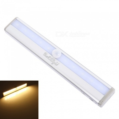 YouOKLight Motion Sensing 10-LED Warm White Light Night Lamp - Silver