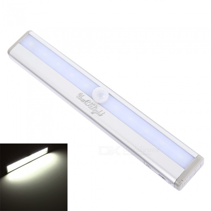 YouOKLight Motion Sensing 10-LED Cold White Light Night Lamp - White