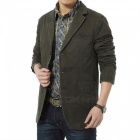 Jeep Rich Multi-functional Men's Suit Collar Jacket - Army Green (L)