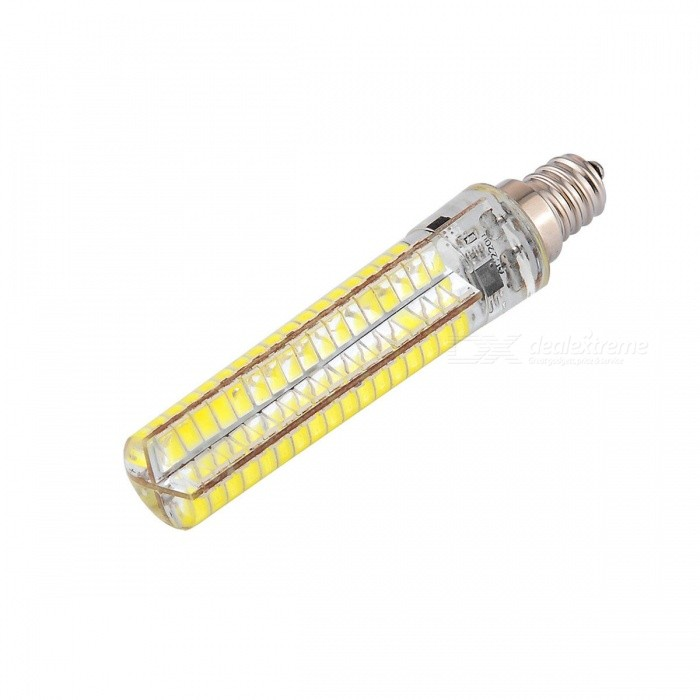 YWXLight E12 136-5730SMD LED Cool White Light Dimmable Lámpara de silicona