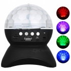 exLED Disco Ball Lamp Stage LED Light w/ Wireless Bluetooth Speaker