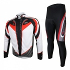 ARSUXEO C01 Long-sleeved Cycling Jersey with Tights for Men (XXL)