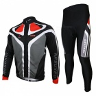 ARSUXEO C02 Thermal Cycling Men's Clothing Suit - Black + Gray (XL)