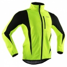 ARSUXEO Windproof Men's Long-sleeved Cycling Jacket - Light Green (M)
