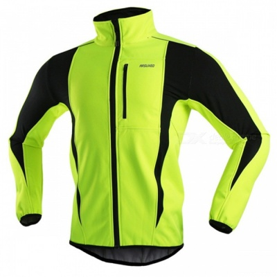ARSUXEO Men's Long-sleeved Cycling Jacket - Light Green (XXXL)