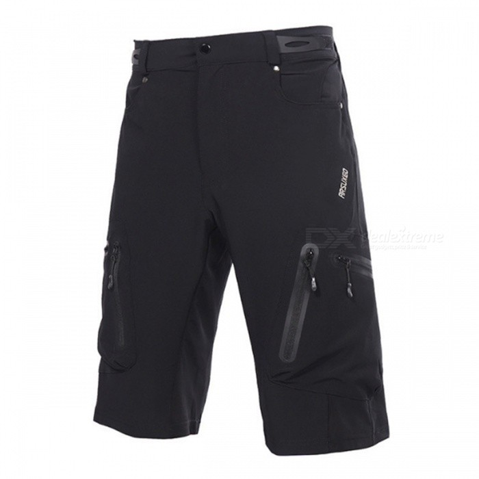 ARSUXEO 1202 Mens Casual Breathable Shorts for Cycling - Black (L)Cycle Clothing<br>Form ColorBlackSizeLModel1202Quantity1 pieceMaterialPolyester + LycraGenderMensSeasonsSpring and SummerShoulder WidthNo cmChest GirthNo cmSleeve LengthNo cmWaist2-2.8 inchTotal Length58 cmLength Of Hem54 cmSuitable for Height165-175 cmBest UseCycling,Mountain Cycling,Recreational Cycling,Road Cycling,Bike commuting &amp; touringSuitable forAdultsTypeShort PantsOther FeaturesBreathable, Waterproof Zipper, Quick Dry, Anti-sweatPacking List1 x Shorts<br>