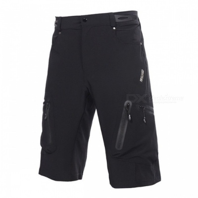 ARSUXEO 1202 Men's Casual Breathable Shorts for Cycling - Black (L)