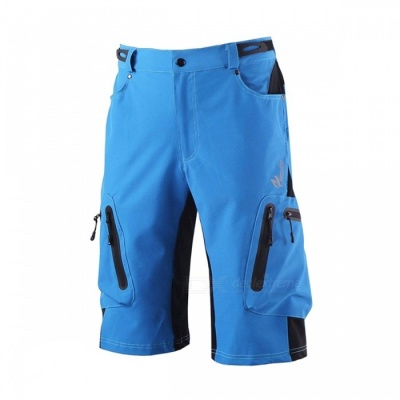 ARSUXEO Sportwear Men's Short Pants for Outdoor Cycling - Blue (XXL)