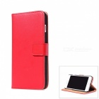 Flip-Open PU Leather + PC Wallet Case for IPHONE 7 PLUS - Red