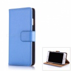 Flip-Open PU Leather + PC Wallet Case for IPHONE 7 PLUS - Blue