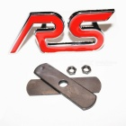 Pure Metal RS Character Letters Car Sticker Car Kit - Red + Silver
