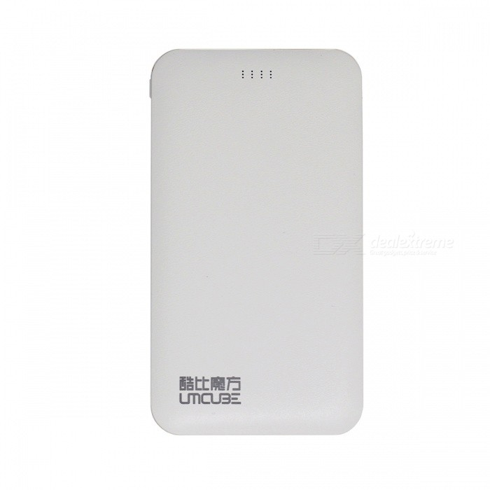 CUBE M50 5000mAh Portable Power Bank / batterie externe - Blanc