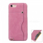 Protective Leather Back Case Cover w/ Card Slot for IPHONE 7 - Pink