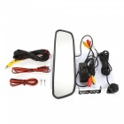 "Kelima Combo 4.3"" Rearview Mirror + Parking Sensor Alarm Camera- Black"
