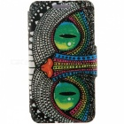 SZKINSTON Shining Eyes Pattern PU Case for HUAWEI P9 - Black + Green