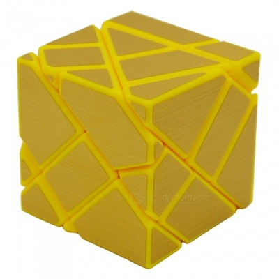 Non-toxic 3 x 3 x 3 Ghost Magic IQ Cube Toys - Yellow + Golden