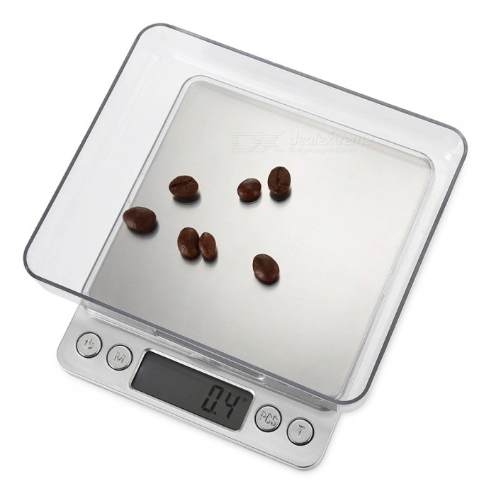 "M-8008 1.7"" LCD High-precision Electronic Scales (1000g/0.1g) - Silver"