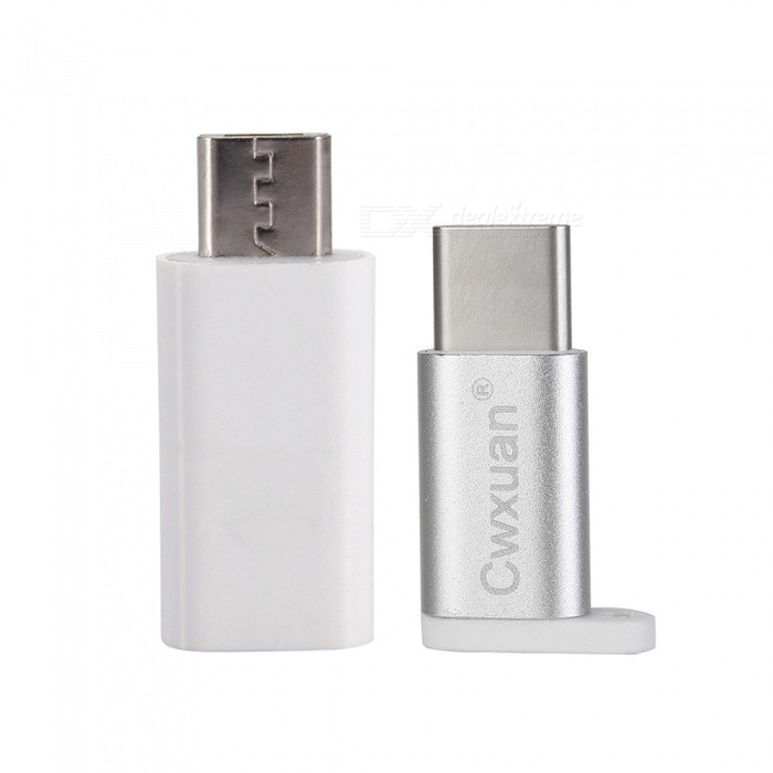 Cwxuan 2-in-1 USB 3.1 Type-C to Micro USB Adapter Connectors Kit