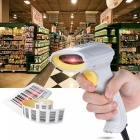 Automatic Handheld USB2.0 Wired Laser Barcode Scanner - White + Yellow