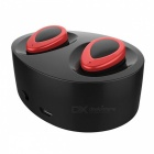 Mini Wireless Bluetooth v4.1 Stereo Sport Headset w/ Mic - Black + Red