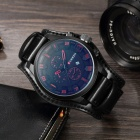CURREN 8225 Mode Hommes Alloy Case Wrist Watch - Noir + Rouge