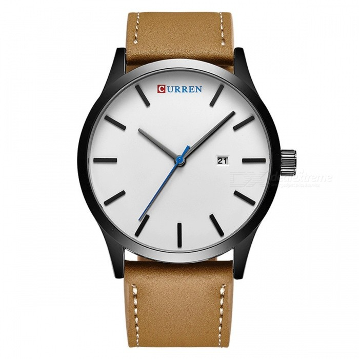 CURREN 8214 Fashion Mens Alloy Case Wrist Watch - Black + WhiteQuartz Watches<br>Form  ColorBlack + White + Multi-ColoredModel8214Quantity1 DX.PCM.Model.AttributeModel.UnitShade Of ColorGoldCasing MaterialAlloyWristband MaterialLeatherSuitable forAdultsGenderMenStyleWrist WatchTypeFashion watchesDisplayAnalogBacklightNoMovementQuartzDisplay Format12 hour formatWater ResistantFor daily wear. Suitable for everyday use. Wearable while water is being splashed but not under any pressure.Dial Diameter4.5 DX.PCM.Model.AttributeModel.UnitDial Thickness1 DX.PCM.Model.AttributeModel.UnitWristband Length26 DX.PCM.Model.AttributeModel.UnitBand Width2 DX.PCM.Model.AttributeModel.UnitBattery1 x 626Packing List1 x Watch<br>
