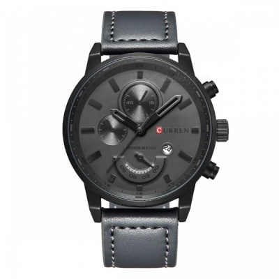 CURREN 8217 Fashion Men's Alloy Case Wrist Watch - Black + Grey