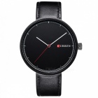 CURREN 8223 Fashion Unisex Couple Alloy Case Wrist Watch - Black