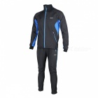 Arsuxeo Cycling Long Sleeve Men's Jacket + Pant - Black + Blue (M)