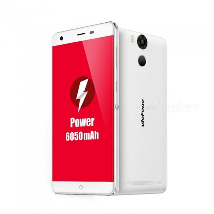 "Ulefone Power 5.5"" Octa-core Dual SIM Phone, 3GB RAM + 16GB ROM- White"