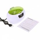 Digital Ultrasonic 600ml Cleaning Machine for Jewelry Glasses - Green