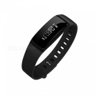 V07 Bluetooth IP67 Smart Band Blood Pressure Heart Rate Monitor- Black